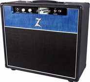 Dr. Z Carmen Ghia 1x12 Combo in Black w/ Custom Blue Flamed Maple