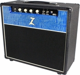 Dr. Z Monza Custom 1x12 Combo in Black w/ Blue Flamed Maple