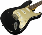 Nash S-63 Guitar - Black w/ Gold Anodized Pickguard