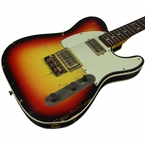 Nash T-2HB Guitar, 3 Tone Sunburst, Lollartrons, Cream Binding