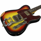 Nash T-63 Guitar, 3 Tone Sunburst, Medium Distress, Bigsby