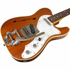 Nash T-69 Thin Line Guitar, Natural, Bigsby