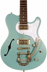 Nik Huber Surfmeister Hollow Body w/ Bigsby - Surf Green