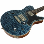 Nik Huber Surfmeister Hollow Body - Blue Quilted Maple