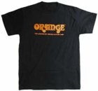 Orange Amplifier Tee Shirt - Traditional Black w/ Orange Logo