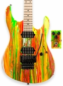 Suhr 80s Shred Guitar - Neon Drip - Scalloped