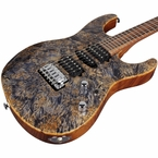 Suhr Modern Burl Maple  - Trans Blue Tint