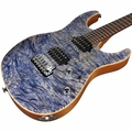 Suhr Modern Waterfall Burl Maple HH Guitar - Trans Blue