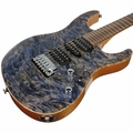 Suhr Modern Waterfall Burl Maple HSH Guitar - Trans Blue