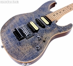 Suhr Pro M6 Guitar - Swamp Ash - Trans Blue Denim Slate