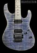 Suhr Pro M6 Guitar - Trans Blue Denim Slate