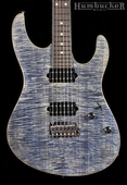 Suhr Pro M7 Guitar in Trans Blue Denim Slate - 2
