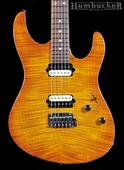 Suhr Pro M7 Guitar in Trans Honey Amber Burst