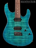 Suhr Pro M7 Guitar in Trans Sky Blue Burst