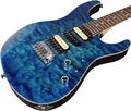 Suhr Pro M7 Guitar - Quilted Maple - Aqua Blue Burst