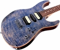 Suhr Pro M7 Guitar - Swamp Ash - Trans Blue Denim Slate