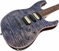 . Suhr Pro M7 Guitar - Swamp Ash - Trans Blue Denim Slate