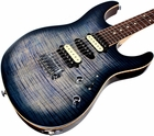 Suhr Pro M7 Guitar - Swamp Ash - Faded Trans Whale Blue Burst