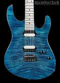 Suhr Pro M8 Guitar in Trans Aqua Blue Burst