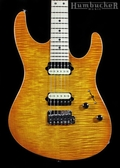 Suhr Pro M8 Guitar - Trans Honey Amber Burst