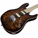 Suhr Pro M8 Guitar - Quilted Maple - Bengal Burst