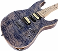 Suhr Pro M8 Guitar - Swamp Ash - Trans Blue Denim