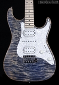. Suhr Pro S4 Guitar - Swamp Ash - Trans Blue Denim Slate