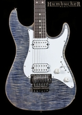 Suhr Pro S5 Guitar - Trans Blue Denim Slate - Stainless Steel