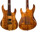 ". Suhr ""The One"" Modern Curly Koa Carve Top Set Neck"
