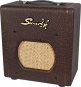 Swart Space Tone Atomic Jr. in Custom Brown Ostrich
