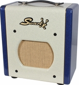 Swart Space Tone Atomic Jr. in Custom White / Blue Sparkle