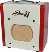Swart Space Tone Atomic Jrin Custom White / Red Sparkle