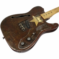 Trussart Deluxe Steelcaster Guitar Rust-O-Matic Cream Star