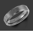 11-2233BC Black Tungsten Carbide Triton Wedding Ring