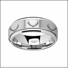 Deer Rack Tungsten Carbide Wedding Ring