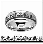 Deer Tungsten Carbide Wedding Ring
