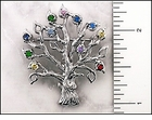 "Family Birthstone Tree<br>""Mother"" or ""Grandmother""<br><font color=""brown"">""Sterling Silver""<br>""Genuine Stones""</font><br><font color=""green"">""Takes 6 to 8 Days for us to get ready to ship""</font>"