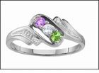 "Family Ring or Mothers Ring Genuine or Synthetic Birthstones<br><font color=red>Genuine Accent Diamonds</font><br> <font color=green>""Takes 5 to 7 Days for us  to get ready to ship""</font>"