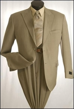 2 Button Men's Suit with Shawdow Stripes  (P1113)