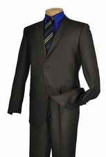 2 Button Slim Fit Suit Luxurious Wool Feel Poly Rayon (S1201)