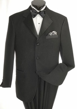 2 Piece Shadow Striped Men's Tuxedo with Satin Lapels (P1045)