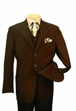 3 Piece 3 Piece 3 Button Solid Color Suit (S1194)