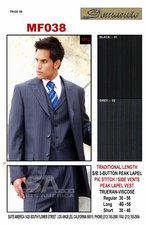 3pc. Designer Men's Business Suit (MF038)