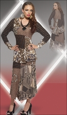 Beautiful 2 Piece Womens Set from Love The Queen in Brown 17100