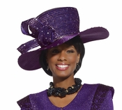 Beautiful Purple Classy Womens Holiday Hat by Donna Vinci H2125
