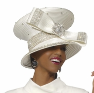 Best Selling Ladies Ivory Church and Special Occasion Hat by Donna Vinci H1207
