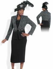 Women's High Quality Slimming Effect Suit by Donna Vinci 2994