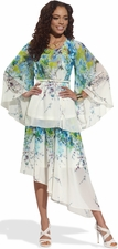 Best Selling Women's Flirty Floral Print Tunic and Skirt Set from LTQ 17133
