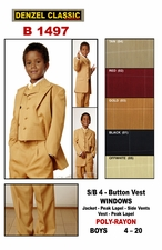 Boy's Below Wholesale Price Designer Suit (B1497)