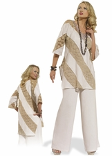 Breezy and Free Women's Casual Tunic Set by Donna 14167